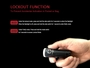 t1 flashlight locking function