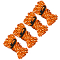 Ultimate Survival Technologies Guy Line Reflective Rope - 4 x 13-foot (4cm) Cords - Orange (20-02096-08)