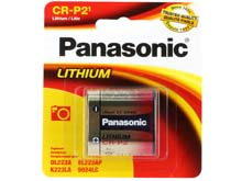 Panasonic CR-P2PA/1B 1400mAh 6V Lithium (LiMNO2) Photo Battery with Snap Connectors - 1 Piece Retail Card