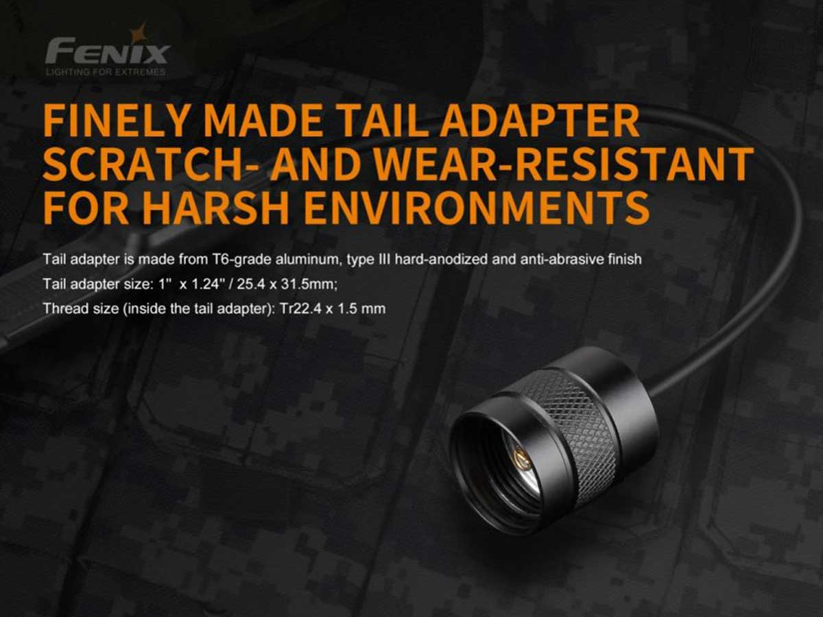 fenix aer-02-v2 pressure switch manufacturer slide about the tail adapter and its construction