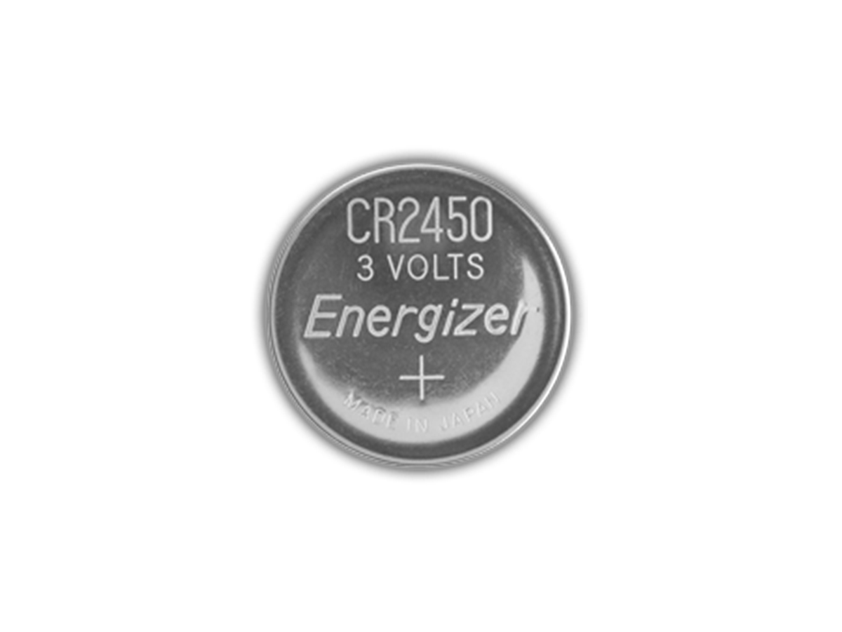 Energizer ECR2450 coin cell front view