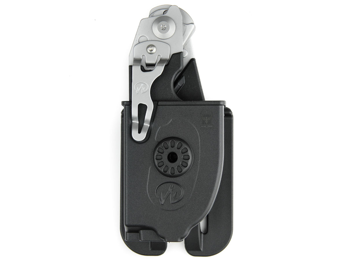Leatherman Utility Holster with Raptor Shears inserted and closed front view