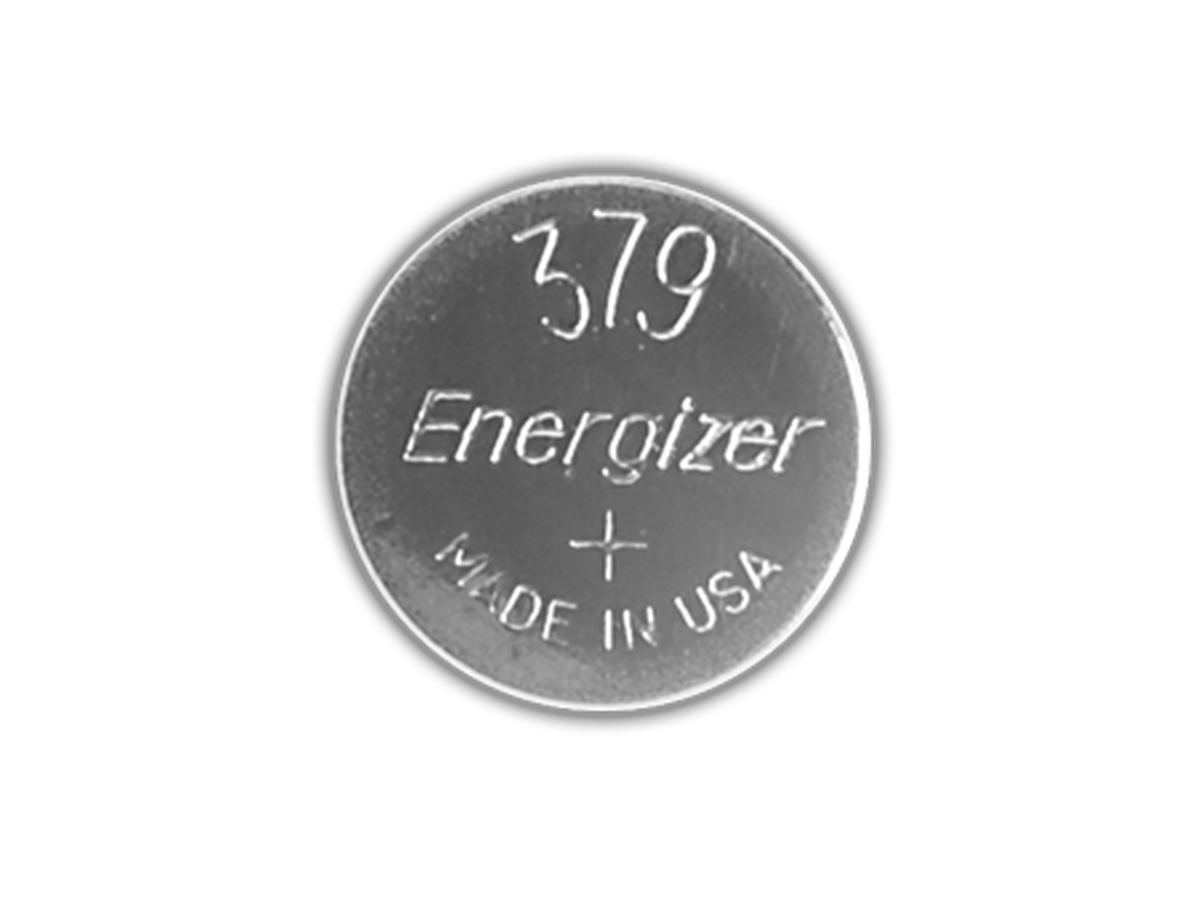 Energizer SR521SW coin cell front view