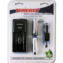 Tenergy TN270 Charger Kit - 2-bay Li-ion Battery Charger, 2x 18650 Batteries & 12V DC Adapter