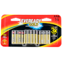 Energizer Eveready Gold A92-BP-16 AAA 1.5V Alkaline Button Top Batteries - 16 Piece Retail Card
