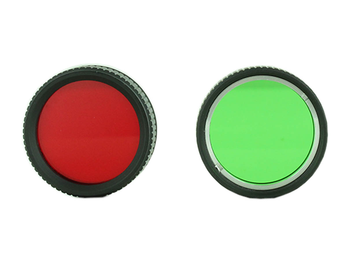 Red and green filters for Acebeam W10 Gen II