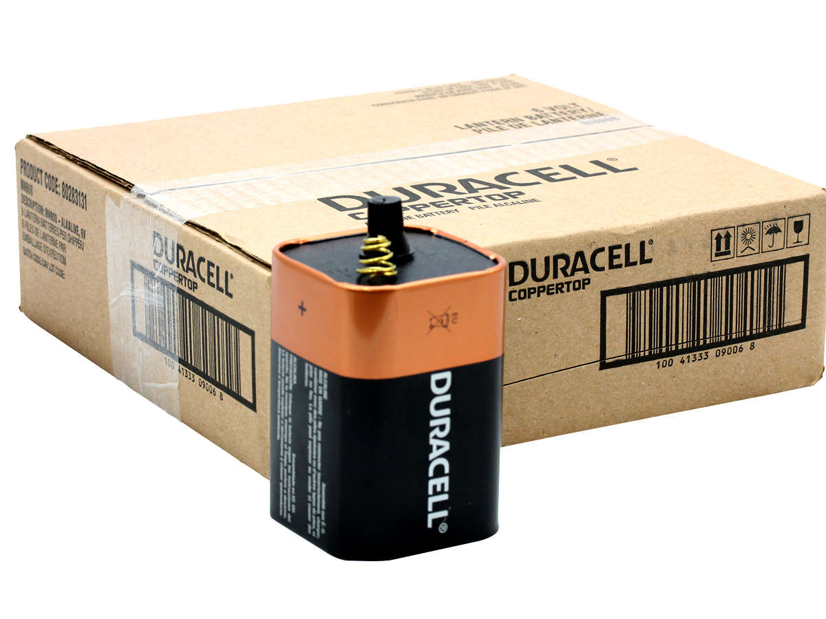 Duracell Coppertop Alkaline Lantern Battery with case and battery