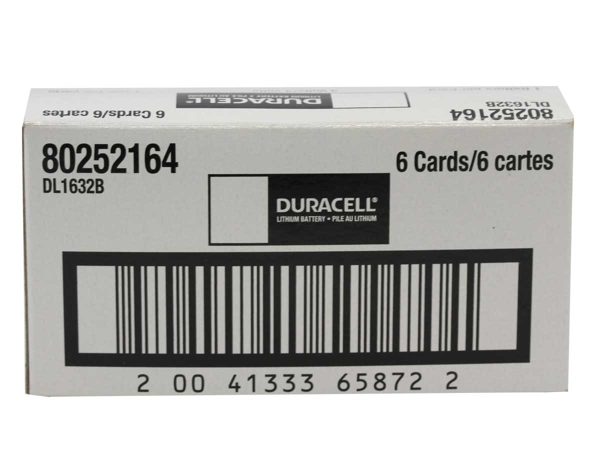 Duracell CR1632 coin cell bulk box