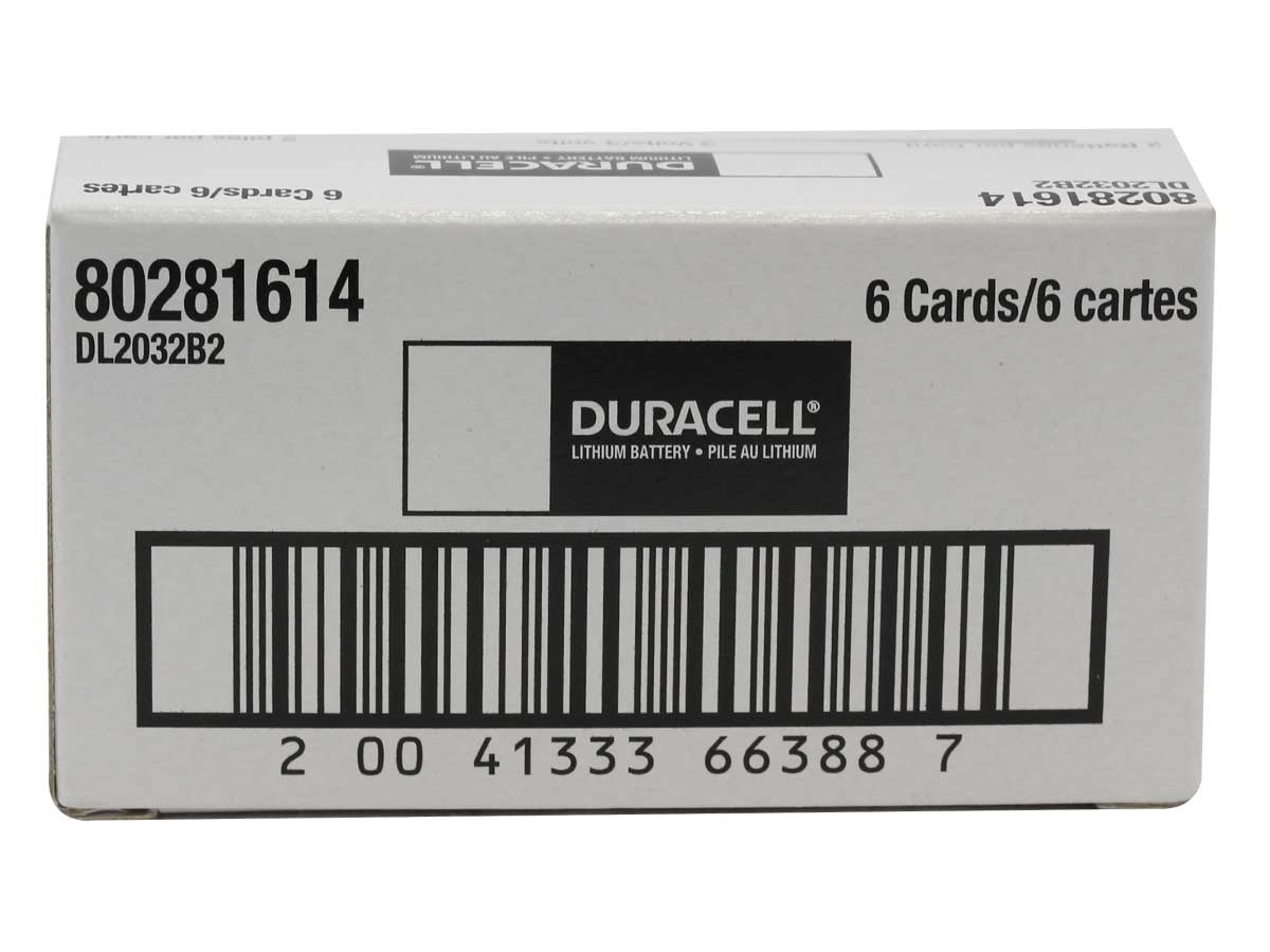 Case for Duracell CR2032 coin cells