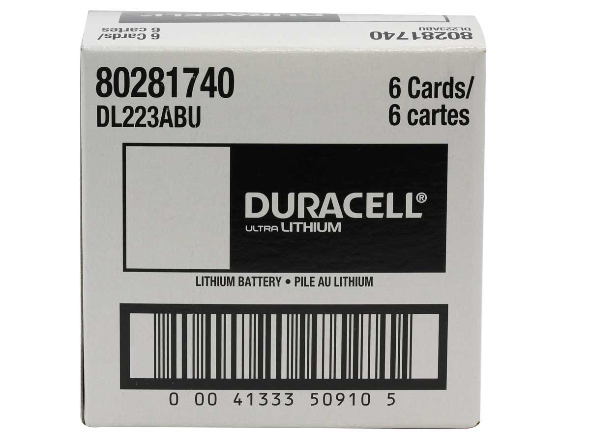 Case for Duracell Ultra 233 battery