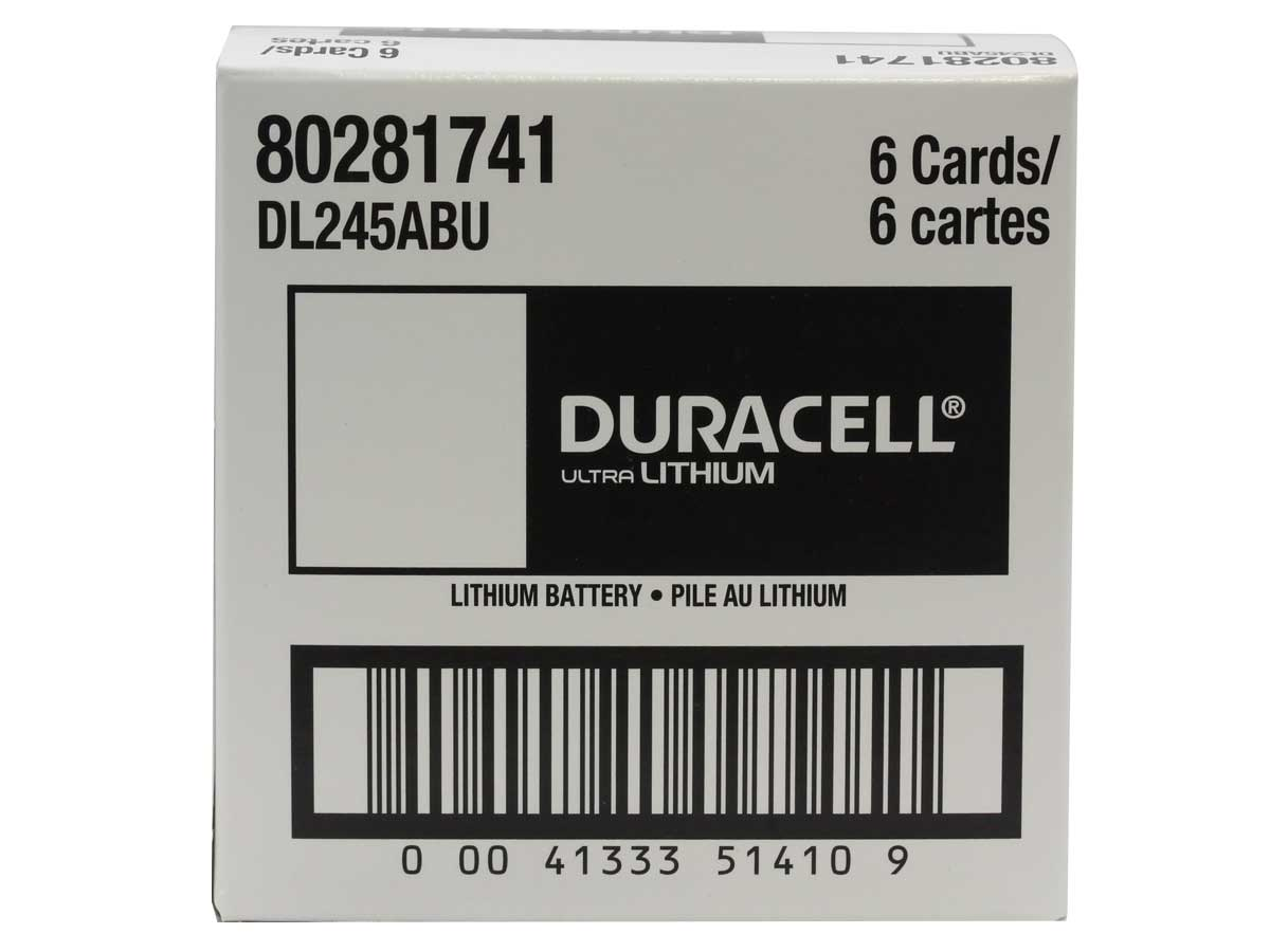 Case for Duracell Ultra 245 battery