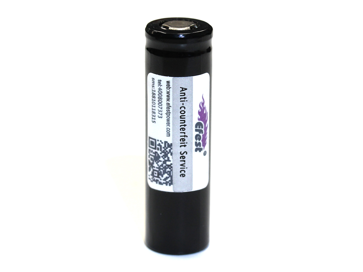 Efest 3709 14500 unprotected flat top battery upright