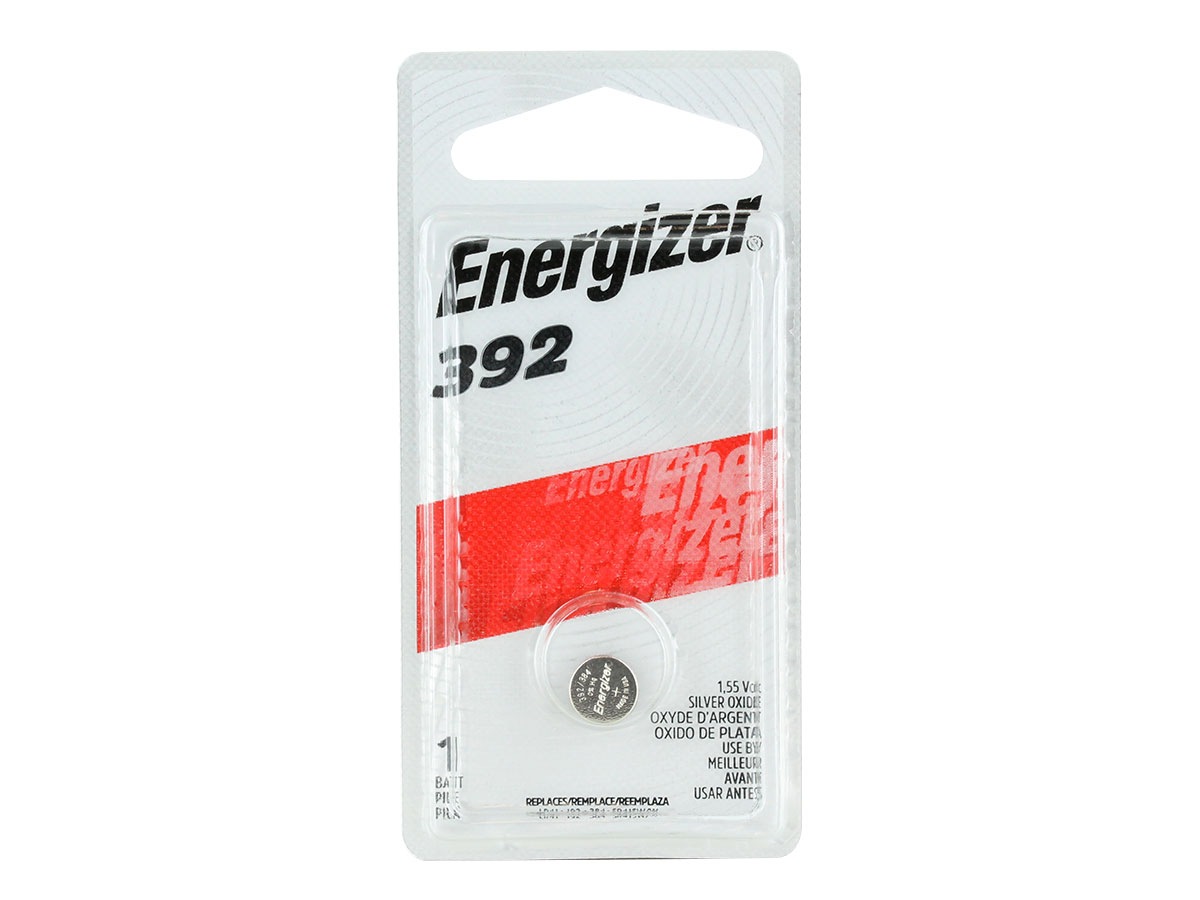 Energizer 392 coin cell in 1 piece blister packaging