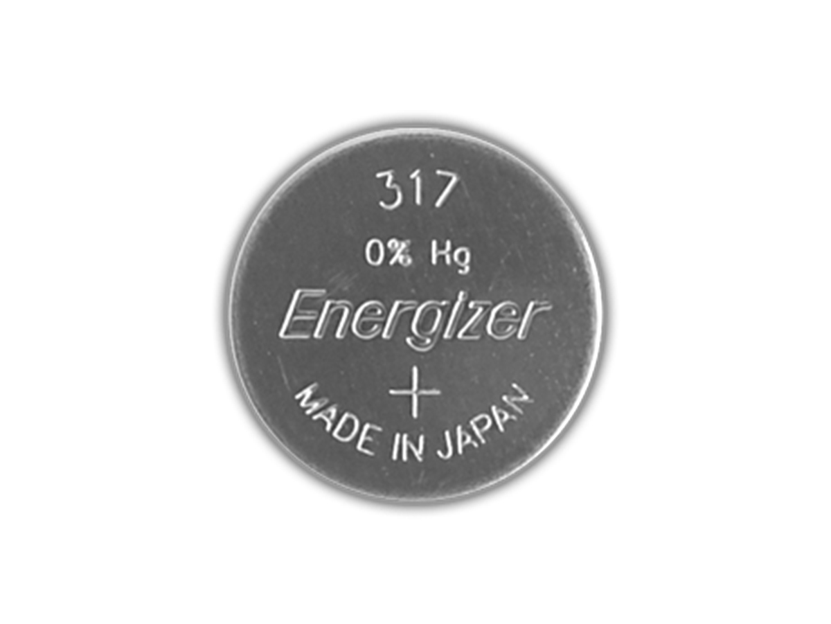 Energizer SR761SW coin cell front view