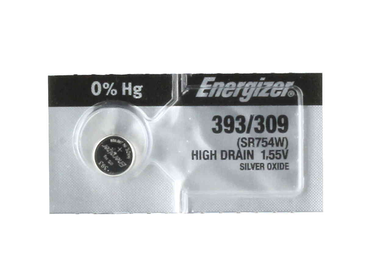 Energizer 393/309 coin cell in 1 piece tear strip packaging