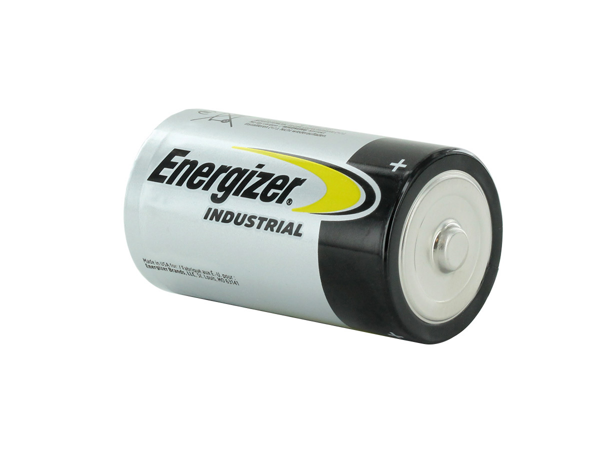 Energizer Industrial EN95 D battery right side angle