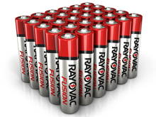 Rayovac Fusion 824-30PP AAA 1.5V Alkaline Button Top Batteries - 30 Pack
