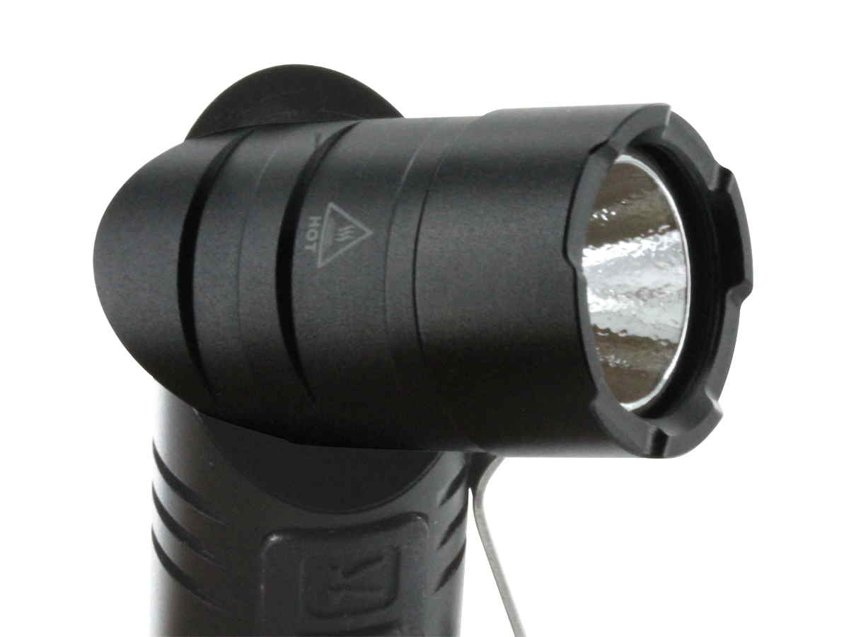 Klarus AR10 angle light with head at 90 degree angle side profile