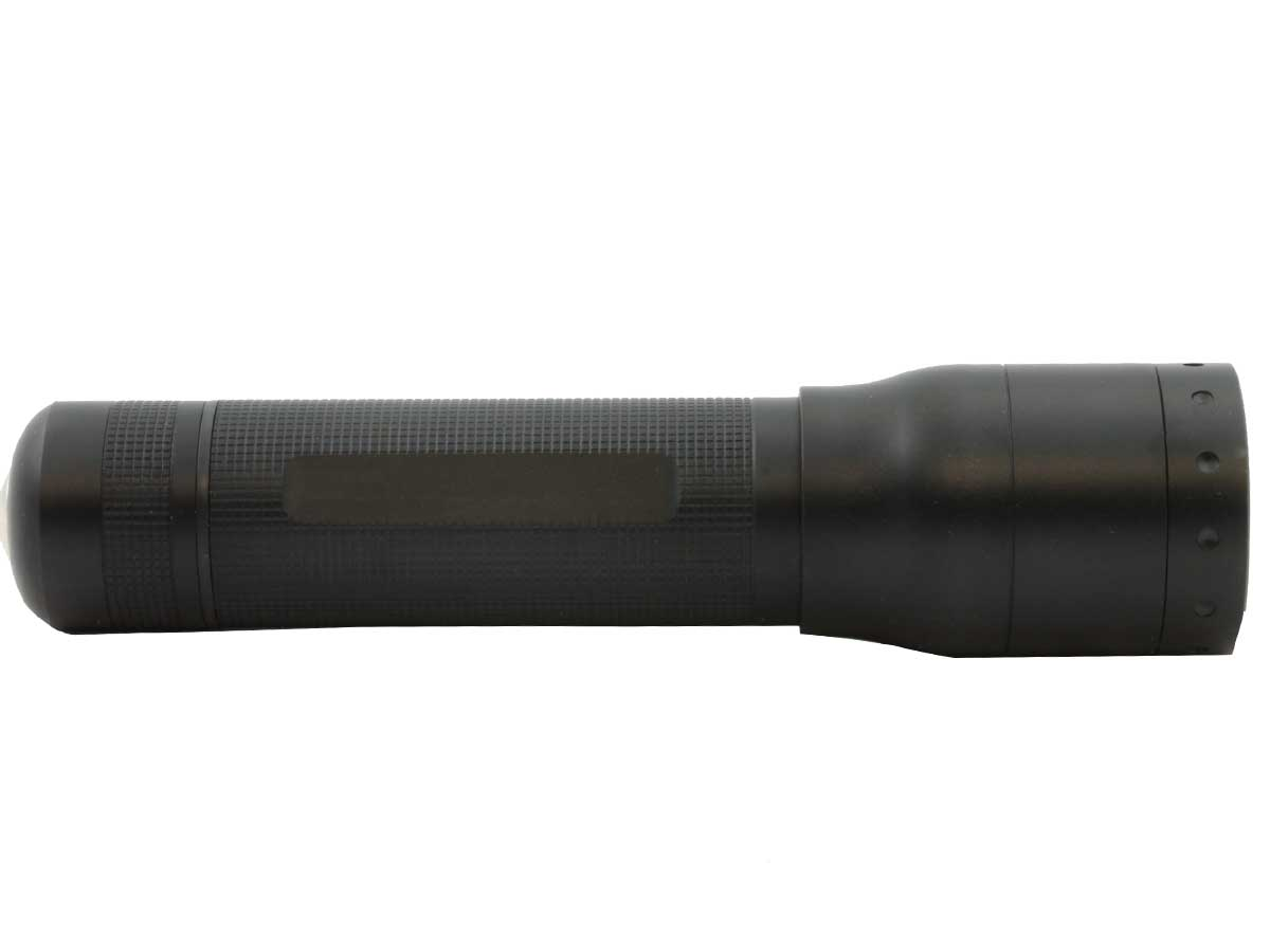 Ledlenser P7R flashlight side profile