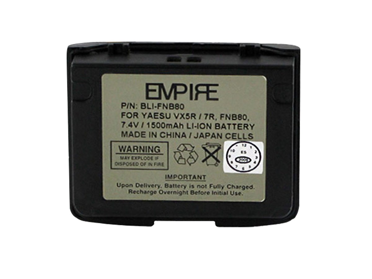Empire BLI-FNB80 battery upright front view
