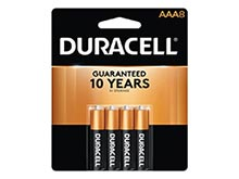 Duracell Coppertop Duralock MN2400-B8 AAA LR03 1.5V Alkaline Button Top Batteries (MN2400B8)- 8 Piece Retail Card