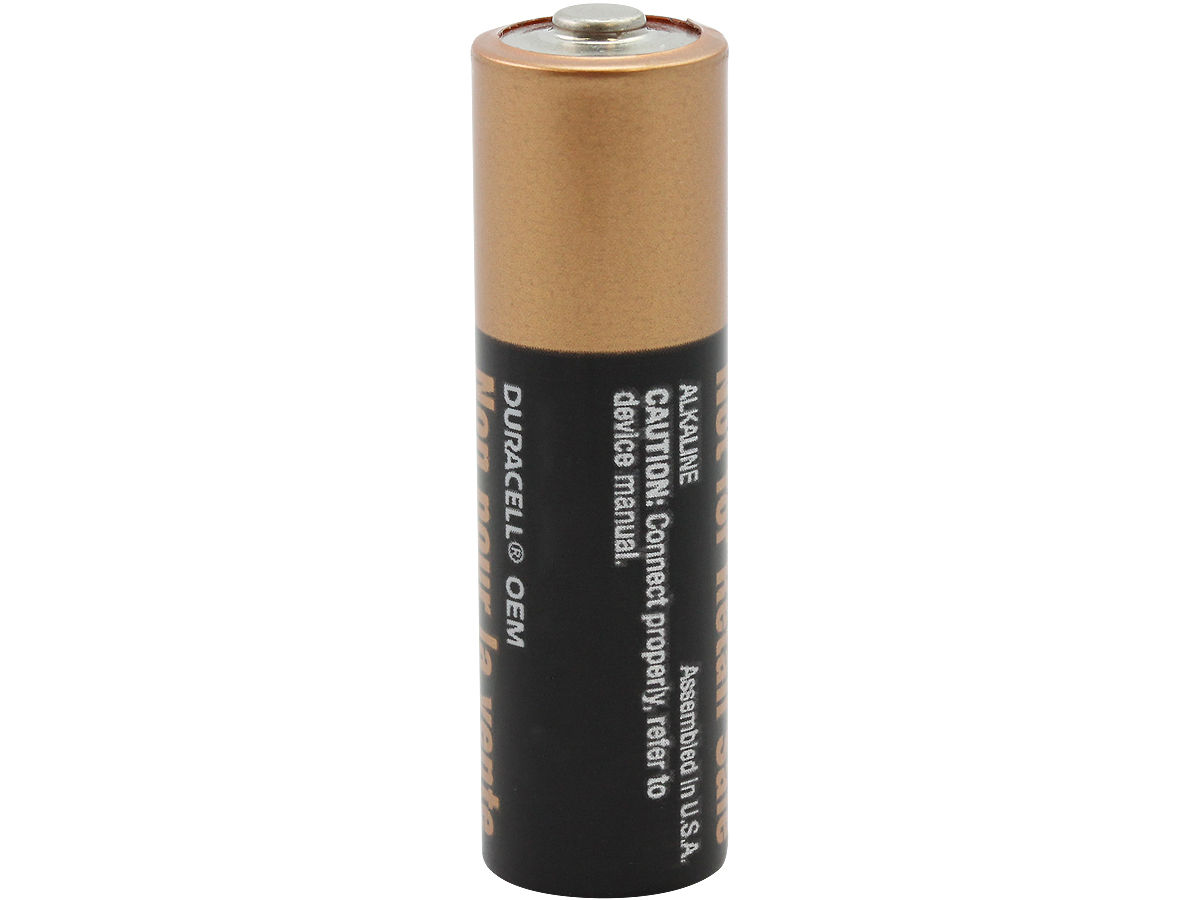 Standing Shot of the Duracell MN1500 AA Battery