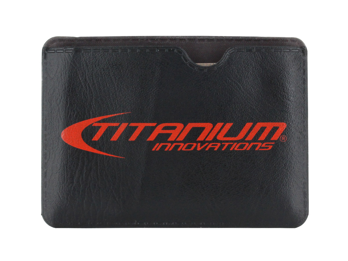 Titanium Innovations Survival Card Tool in stainless steel with packaging