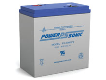 Power-Sonic PS-6360 36AH 6V Rechargeable Sealed Lead Acid (SLA) Battery - NB or F2 Terminals
