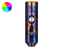 RovyVon Aurora A20 Timascus Limited Edition Mini Keychain Rechargeable LED Flashlight - CREE XP-L or Nichia 219C - 1000 or 700 Lumens - Includes Built-In Li-ion Battery Pack