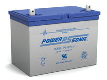 Power-Sonic PS-12750 75AH 12V Rechargeable Sealed Lead Acid (SLA) Battery - U Terminal