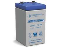 Power-Sonic PS-445 4.5AH 4V Rechargeable Sealed Lead Acid (SLA) Battery - F2 Terminal