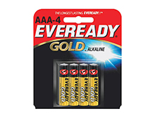 Energizer Eveready Gold A92-BP-4 AAA 1.5V Alkaline Button Top Batteries - 4 Piece Retail Card
