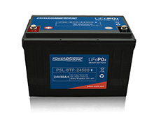 Power-Sonic PSL-BTP-24500 Blue Tooth Enabled 50AH 25.6V Rechargeable Lithium Iron Phosphate (LiFePO4) Battery - M8 Terminals