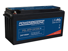 Power-Sonic PSL-BTP-241000 Bluetooth Enabled 100AH 25.6V Rechargeable Lithium Iron Phosphate (LiFePO4) Battery - M8 Terminals