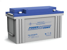 Power-Sonic PG-12V120 FR 124AH 12V Long-Life Rechargeable Sealed Lead Acid (SLA) Battery - B Terminal