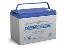 Power-Sonic PS-62000 200AH 6V Rechargeable Sealed Lead Acid (SLA) Battery - B Terminal