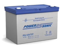 Power-Sonic PG-12V75T FR 75AH 12V Long-Life Rechargeable Sealed Lead Acid (SLA) Battery - B Terminal