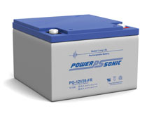 Power-Sonic PG-12V28 FR 28AH 12V Long-Life Rechargeable Sealed Lead Acid (SLA) Battery - B Terminal