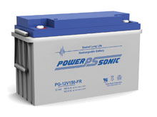 Power-Sonic PG-12V150 FR 153AH 12V Long-Life Rechargeable Sealed Lead Acid (SLA) Battery - B Terminal