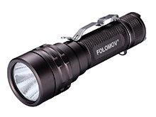 Folomov 18650L LED Flashlight - LUMINUS SST-40 - 1600 Lumens - Includes 1 x 18650 with Built-in Micro USB Charge Port