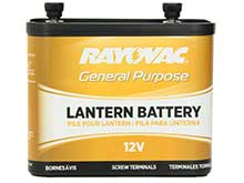 Rayovac 926C (V2) 7900mAh 12V Carbon-Zinc Lantern Battery with Screw Terminals - Bulk