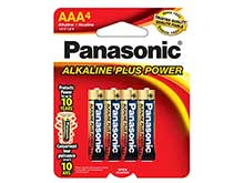 Panasonic Alkaline Plus AAA -  4 Pack Retail Card
