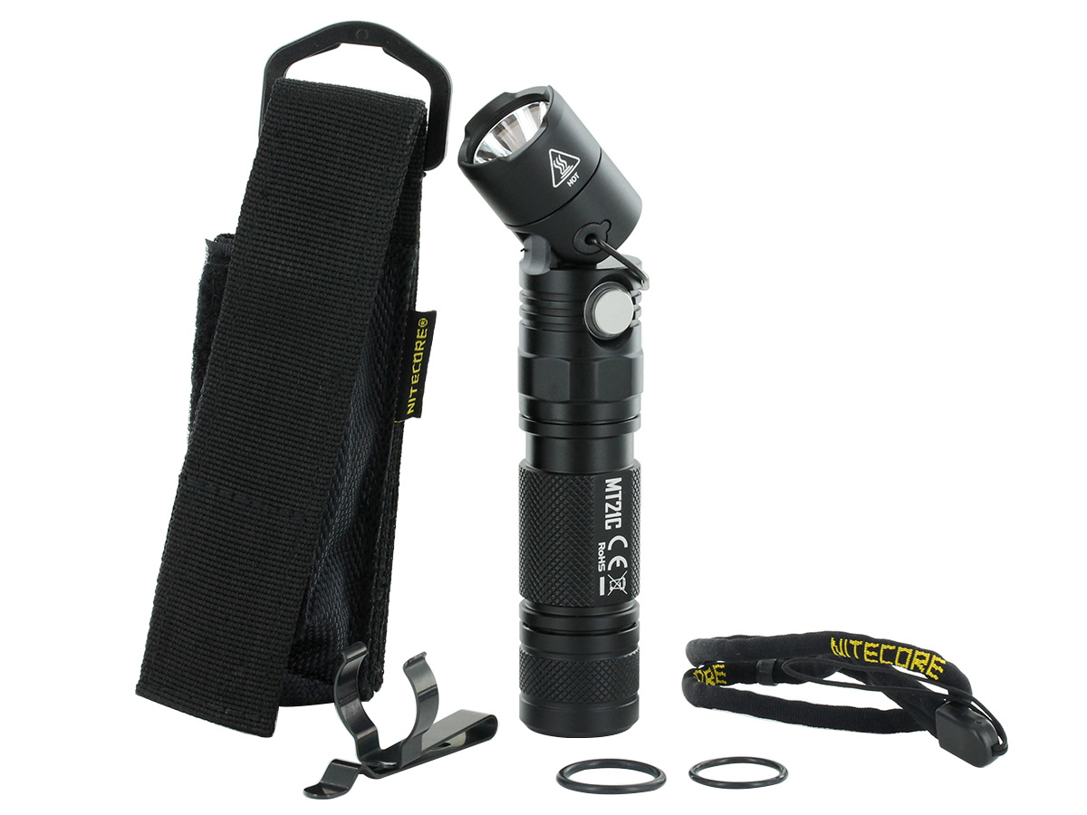 Nitecore MT21C Adjustable Flashlight included contents