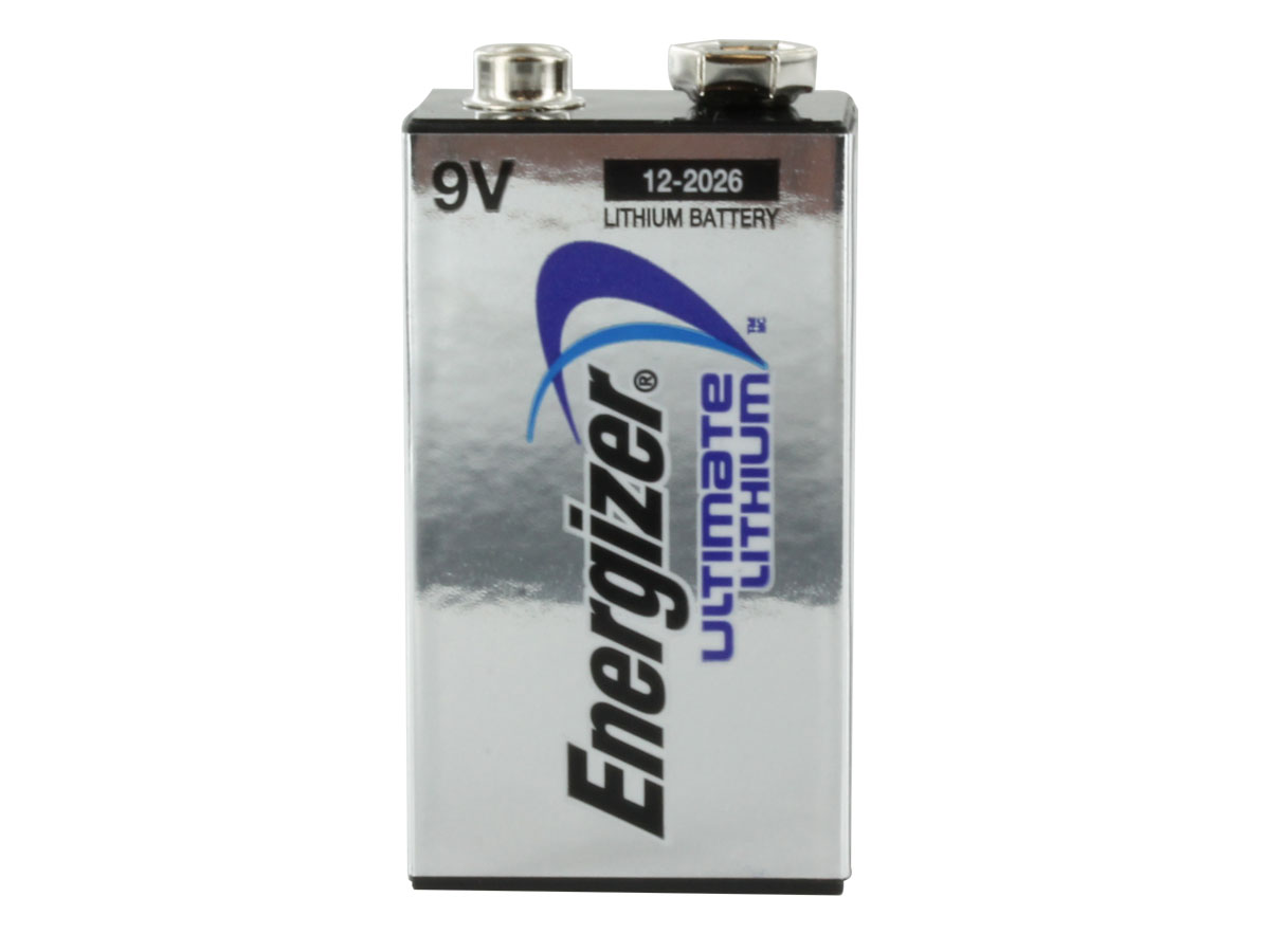 Energizer Ultimate L522 9V battery upright