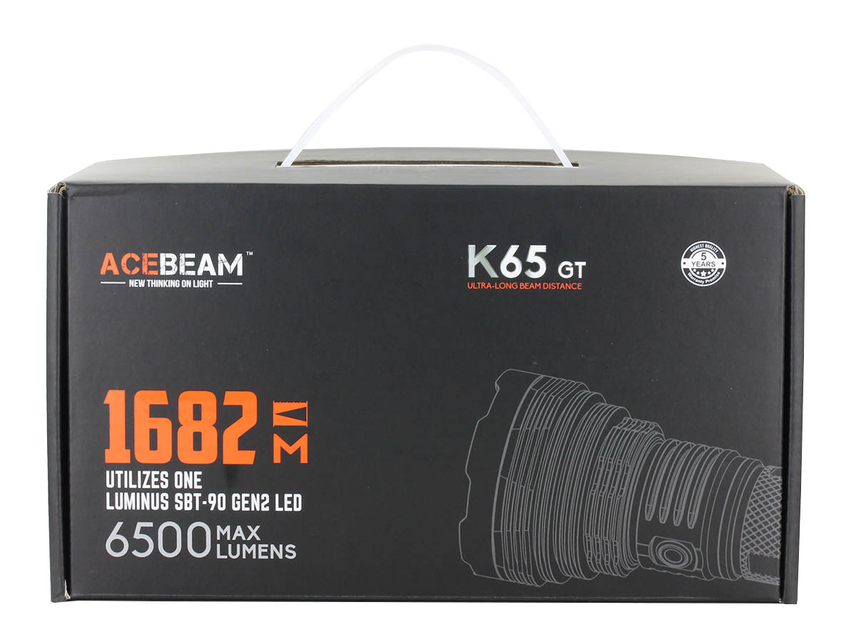 Acebeam K65-GT Searchlight Box Packaging