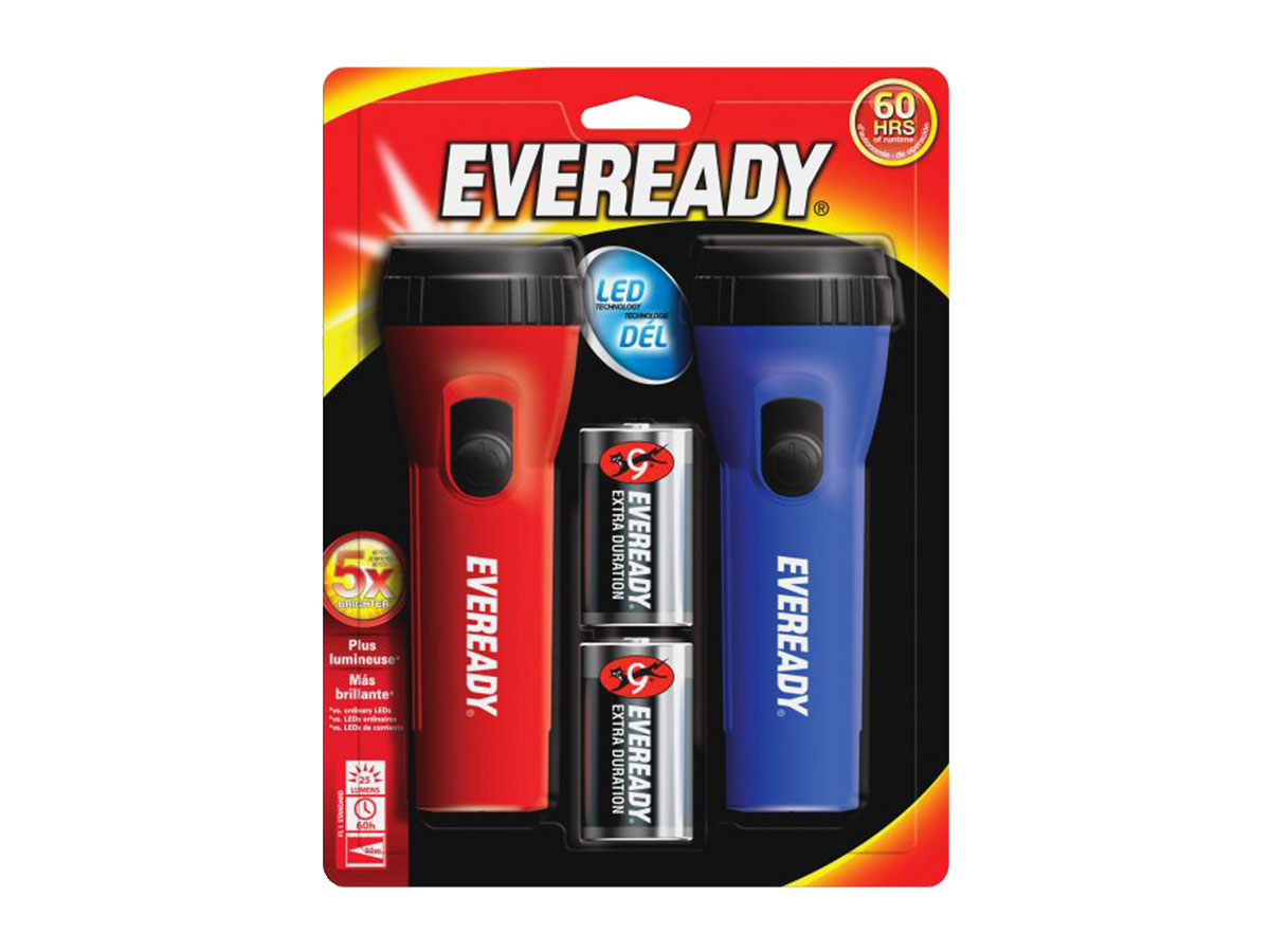 Energizer Economy Flashlight Twin Pack packaging