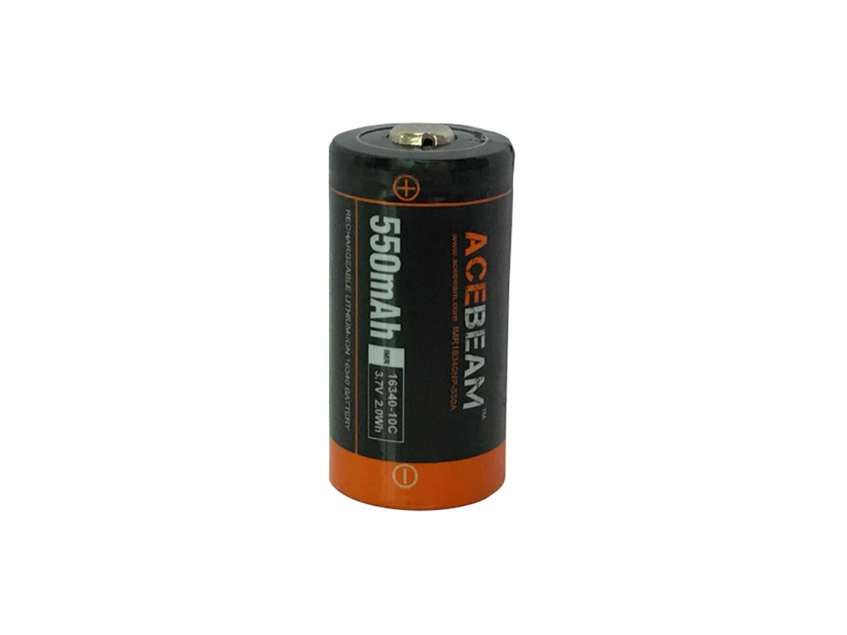 Acebeam IMR 16340 Li-ion Battery retail blister packaging
