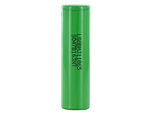 LG MJ1 INR 18650 3500mAh 3.7V Unprotected High-Drain 10A Lithium Ion (Li-ion) Flat Top or Button Top Battery - Bulk