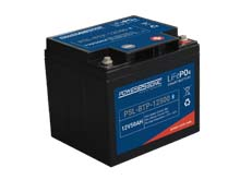 Power-Sonic PSL-BTP-12500 Blue Tooth Enabled 50AH 12.8V Rechargeable Lithium Iron Phosphate (LiFePO4) Battery - M6 Terminals