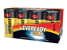 Energizer Eveready Gold A93-8 C-cell 1.5V Alkaline Button Top Batteries - 8 Piece Family Pack